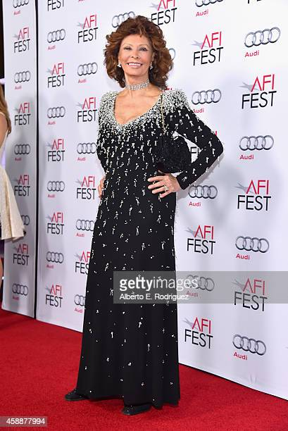 Honoree Sophia Loren attends the special tribute to Sophia Loren during the AFI FEST 2014 presented by Audi at Dolby Theatre on November 12 2014 in...