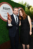 Honoree Steve Carell and actress Julianne Moore attend Variety's Creative Impact Awards and '10 Directors To Watch' brunch presented by Mercedes Benz...