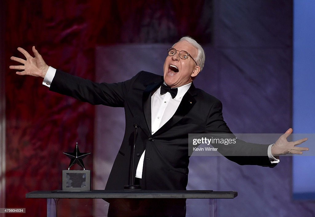 Honoree Steve Martin accepts the AFI Life Achievement Award onstage during the 2015 AFI Life Achievement Award Gala Tribute Honoring Steve Martin at the Dolby Theatre on June 4, 2015 in Hollywood, California. 25292_003