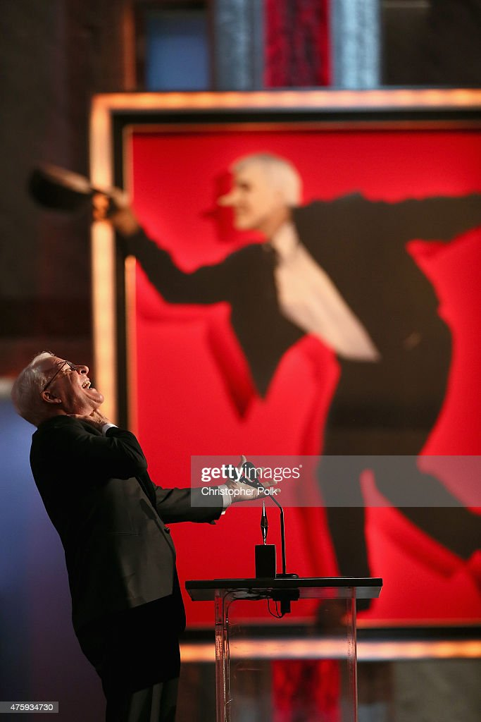 Honoree Steve Martin accepts the AFI Life Achievement Award onstage during the 2015 AFI Life Achievement Award Gala Tribute Honoring Steve Martin at the Dolby Theatre on June 4, 2015 in Hollywood, California. 25292_007
