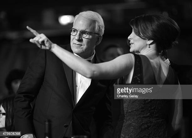 Honoree Steve Martin and actress Tina Fey attend the 2015 AFI Life Achievement Award Gala Tribute Honoring Steve Martin at the Dolby Theatre on June...