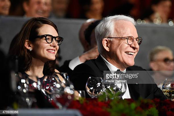 Honoree Steve Martin and Writer Anne Stringfield attend the 2015 AFI Life Achievement Award Gala Tribute Honoring Steve Martin at the Dolby Theatre...