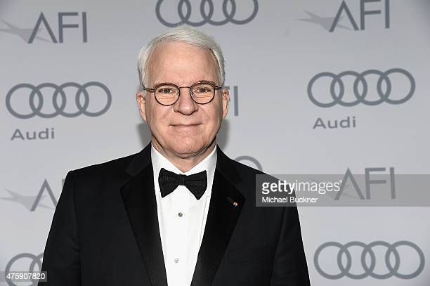 Honoree Steve Martin winner of the AFI Life Achievement Award poses backstage during the 2015 AFI Life Achievement Award Gala Tribute Honoring Steve...