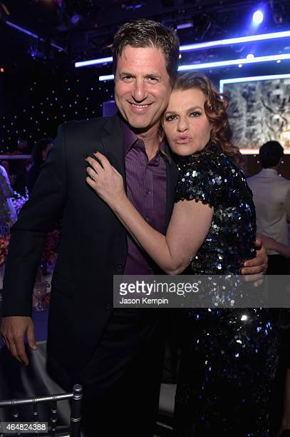 Honoree Steven Levitan and Sandra Bernhard attend the Family Equality Council's 2015 Los Angeles Awards dinner at The Beverly Hilton Hotel on...