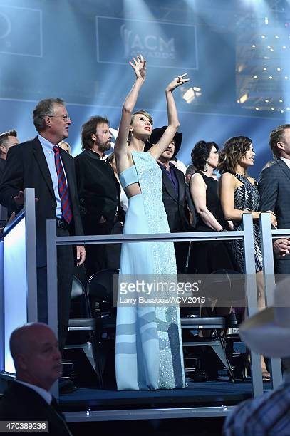 Honoree Taylor Swift attends the 50th Academy Of Country Music Awards at ATT Stadium on April 19 2015 in Arlington Texas
