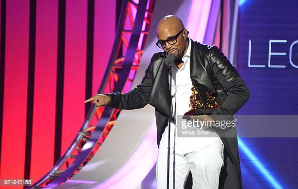 Honoree Teddy Riley speaks onstage during the 2016 Soul Train Music Awards at the Orleans Arena on November 6 2016 in Las Vegas Nevada