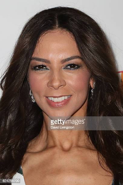 Honoree Terri Seymour arrives at the 14th Annual Lupus LA Hollywood Bag Ladies Luncheon at The Beverly Hilton Hotel on November 18 2016 in Beverly...
