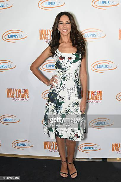 Honoree Terri Seymour attends The 14th Annual Lupus LA Hollywood Bag Ladies Luncheon at The Beverly Hilton Hotel on November 18 2016 in Beverly Hills...