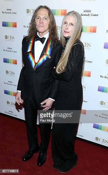Honoree Timothy B Schmit of the Eagles and his wife Jean Schmit arrive at the 39th Annual Kennedy Center Honors at The Kennedy Center on December 4...