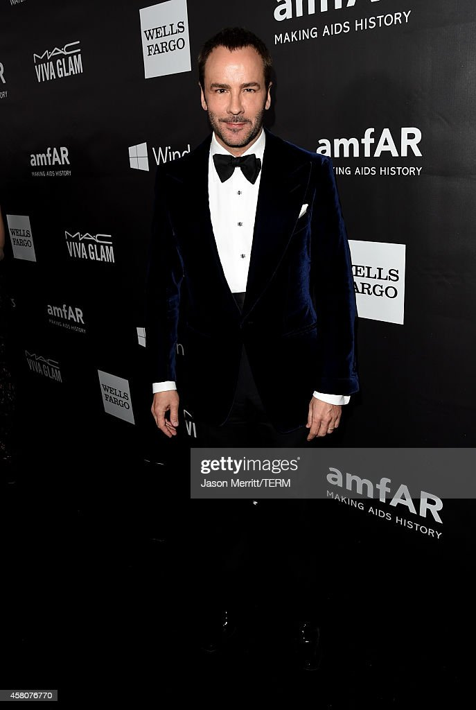 Honoree Tom Ford attends amfAR LA Inspiration Gala honoring Tom Ford at Milk Studios on October 29 2014 in Hollywood California