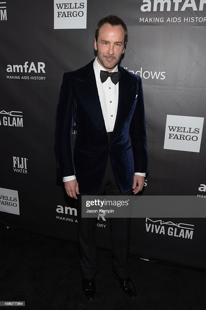 Honoree Tom Ford attends the 2014 amfAR LA Inspiration Gala at Milk Studios on October 29 2014 in Hollywood California