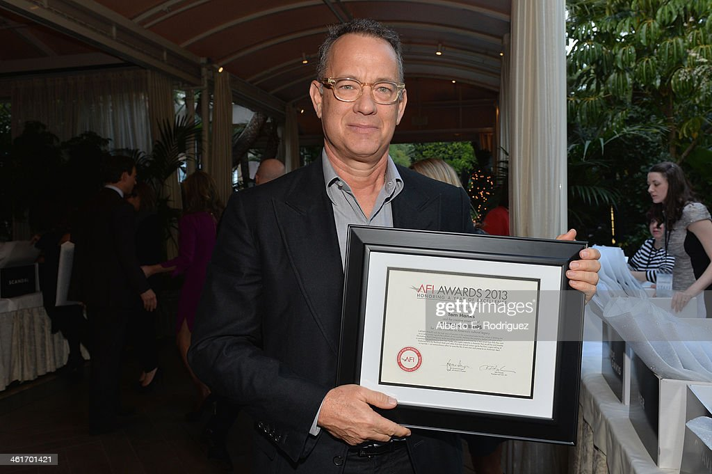 Honoree <a gi-track='captionPersonalityLinkClicked' href=/galleries/search?phrase=Tom+Hanks&family=editorial&specificpeople=201790 ng-click='$event.stopPropagation()'>Tom Hanks</a> attends the 14th annual AFI Awards Luncheon at the Four Seasons Hotel Beverly Hills on January 10, 2014 in Beverly Hills, California.