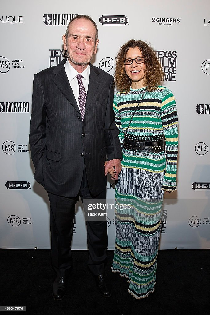 Honoree Tommy Lee Jones and his wife Dawn LaurelJones attend the Austin Film Society's 15th Annual Texas Film Awards at Austin Studios on March 12...