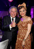 Honoree Tony Bennett and singer Andra Day attend Keep Memory Alive's 20th Annual Power Of Love Gala at the MGM Grand Garden Arena on May 21 2016 in...