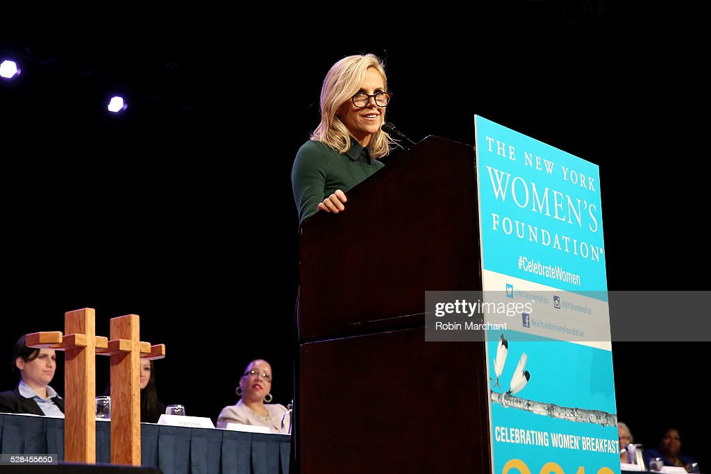 Honoree Tory Burch speaks on stage during The New York Women's Foundation's 2016 celebration womens breakfast on May 5, 2016 in New York City.