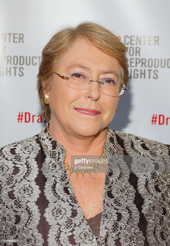 Honoree UN Women Executive Director Michelle Bachelet attends the Center For Reproductive Rights Inaugural Gala at Jazz at Lincoln Center on October 24, 2012 in New York City.