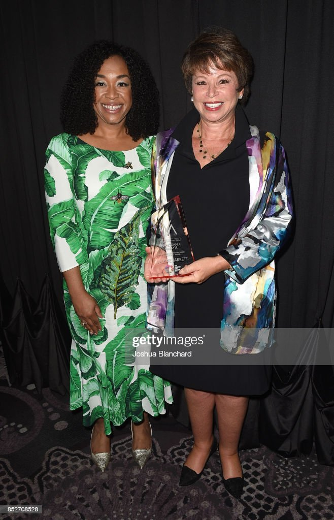 Honoree Valerie Jarrett, right, and presenter Shonda Rhimes attends Los Angeles LGBT Center's 48th Anniversary Gala Vanguard Awards at The Beverly Hilton Hotel on September 23, 2017 in Beverly Hills, California.