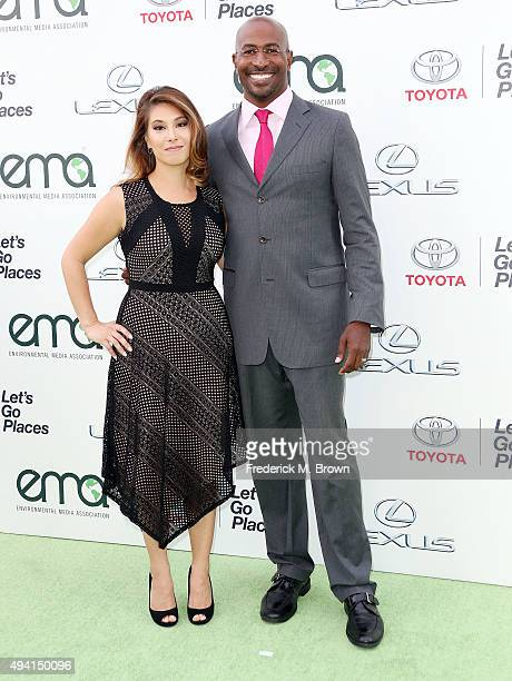 Honoree Van Jones and his wife attend the 25th annual EMA Awards presented by Toyota and Lexus and hosted by the Environmental Media Association at...