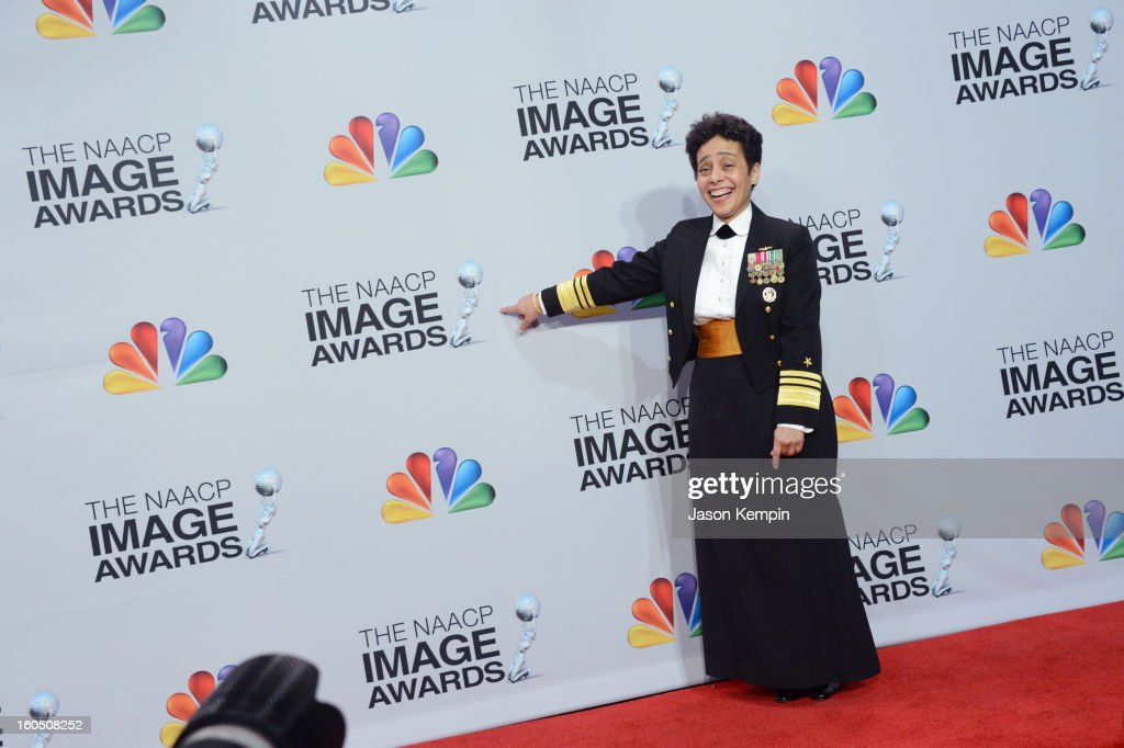 Honoree Vice Admiral Michelle Howard poses in the press room during the 44th NAACP Image Awards at The Shrine Auditorium on February 1, 2013 in Los Angeles, California.
