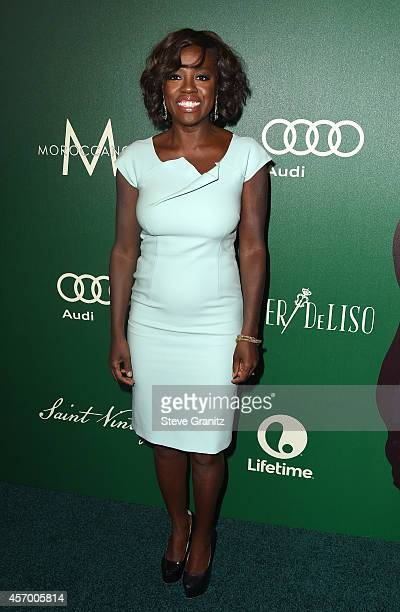 Honoree Viola Davis attends 2014 Variety Power of Women presented by Lifetime at Beverly Wilshire Four Seasons on October 10 2014 in Los Angeles...