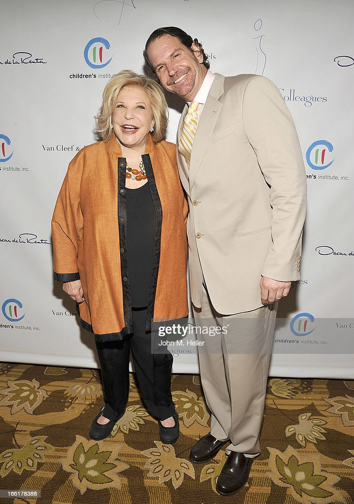 Honoree Wallis Annenberg and her son Charlie Annenberg attend the 25th annual Colleagues Luncheon at the Beverly Wilshire Hotel on April 9, 2013 in Beverly Hills, California.