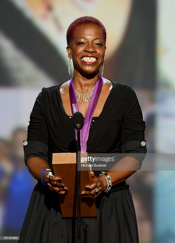 Honoree Wanda Butts of The Josh Project speaks onstage during the CNN Heroes: An All Star Tribute at The Shrine Auditorium on December 2, 2012 in Los Angeles, California. 23046_006_MB_1594.JPG