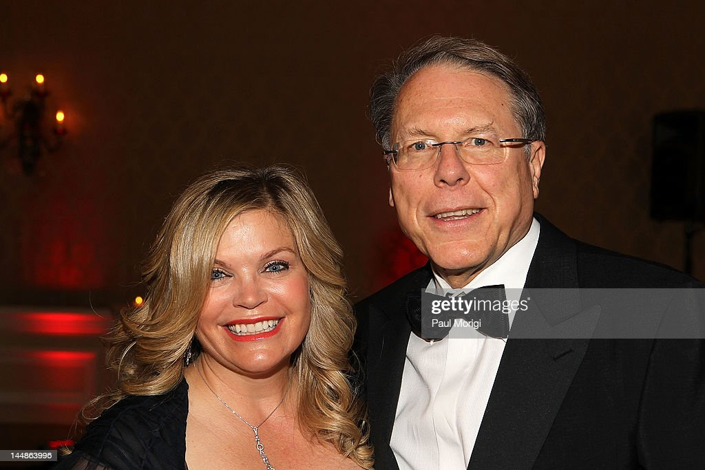 Honoree Wayne LaPierre and his wife, Susan LaPierre, pose for a photo at the 18th Annual Larry King Cardiac Foundation Gala at Ritz Carlton Hotel on May 19, 2012 in Washington, DC.