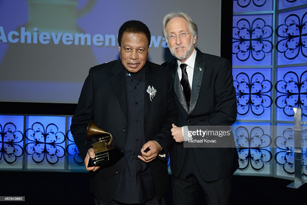 Honoree Wayne Shorter (L) and President/CEO of The Recording Academy and GRAMMY Foundation President/CEO Neil Portnow attend The 57th Annual GRAMMY Awards - Special Merit Awards Ceremony on February 7, 2015 in Los Angeles, California.
