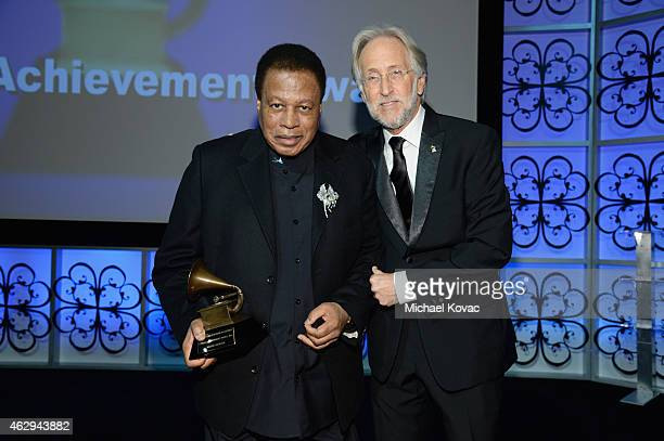 Honoree Wayne Shorter and President/CEO of The Recording Academy and GRAMMY Foundation President/CEO Neil Portnow attend The 57th Annual GRAMMY...