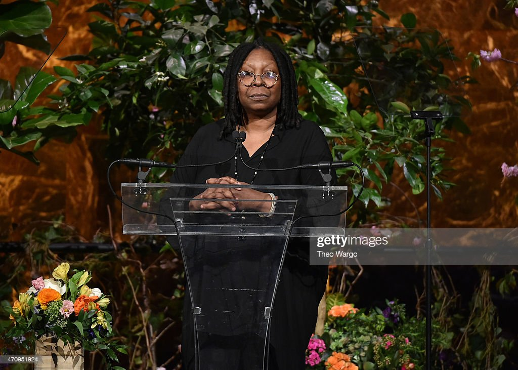 Honoree Whoopi Goldberg speaks onstage at Variety's Power of Women New York presented by Lifetime at Cipriani 42nd Street on April 24 2015 in New...