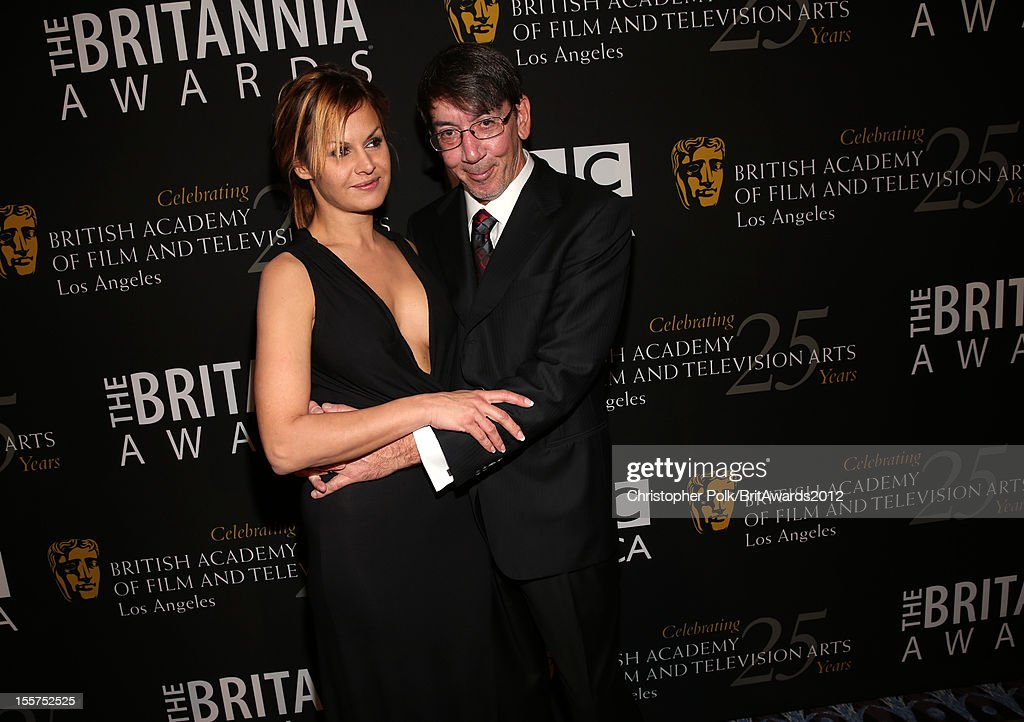 Honoree Will Wright (R) and guest pose in the Honoree Green Room during the 2012 BAFTA Los Angeles Britannia Awards Presented By BBC AMERICA at The Beverly Hilton Hotel on November 7, 2012 in Beverly Hills, California.