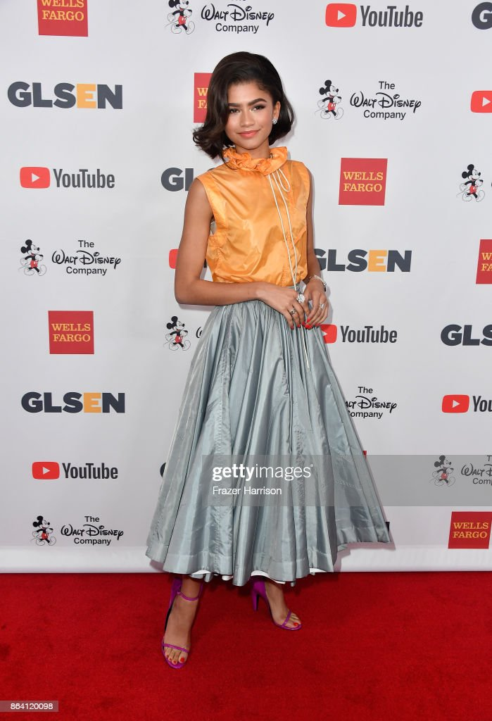 Honoree Zendaya at the 2017 GLSEN Respect Awards at the Beverly Wilshire Hotel on October 20, 2017 in Los Angeles, California.
