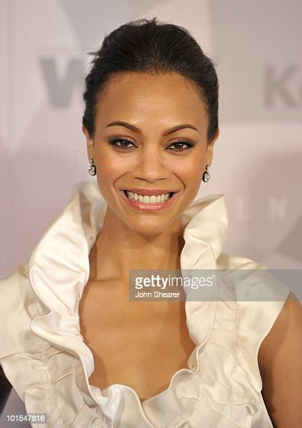 Honoree Zoe Saldana arrives at the 2010 Crystal Lucy Awards A New Era at Hyatt Regency Century Plaza on June 1 2010 in Century City California