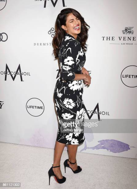 Honoree/actress Priyanka Chopra arrives at the Variety's Power Of Women Los Angeles at the Beverly Wilshire Four Seasons Hotel on October 13 2017 in...