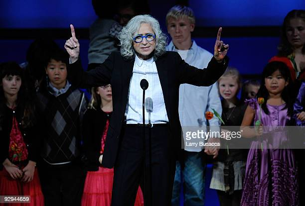 Honoree/Dr Jane Aronson speaks onstage the The 2009 Women of the Year hosted by Glamour Magazine at Carnegie Hall on November 9 2009 in New York City