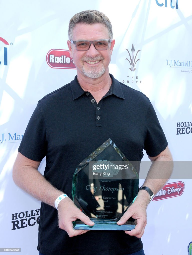 Honoree/Record executive Greg Thompson attends T.J. Martell Foundation Family Day at The Grove on October 7, 2017 in Los Angeles, California.
