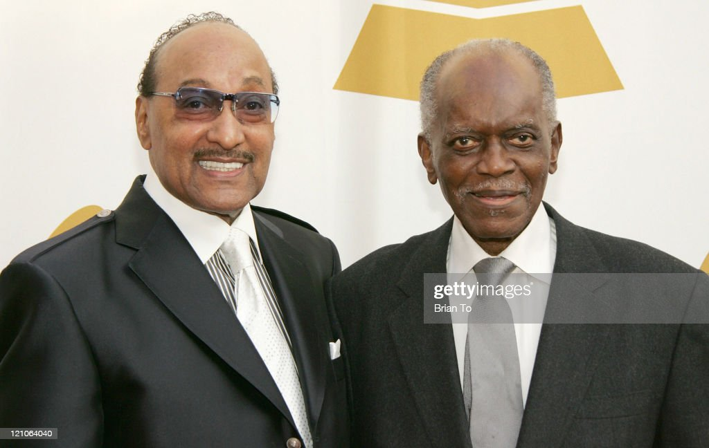 Honorees Abdul 'Duke' Fakir of the Four Tops and <a gi-track='captionPersonalityLinkClicked' href=/galleries/search?phrase=Hank+Jones&family=editorial&specificpeople=855549 ng-click='$event.stopPropagation()'>Hank Jones</a> arrive at The Recording Academy's Special Merit Awards Ceremony at Wilshire Ebell Theater on February 7, 2009 in Los Angeles, California.