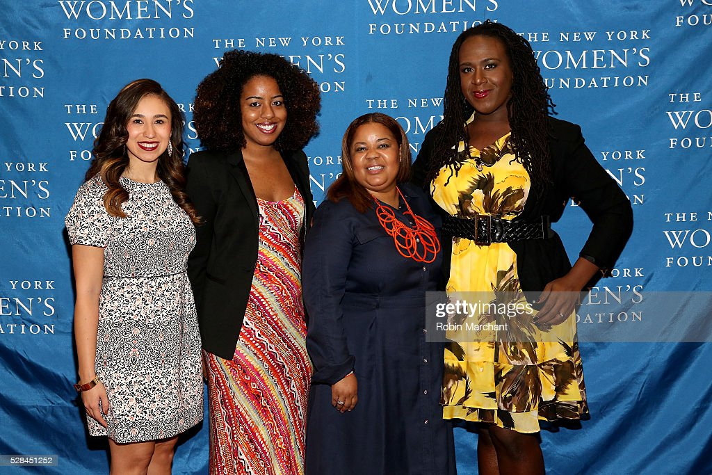 Honorees Amanda Matos, Gloria Malone, Doctor Danielle Moss Lee and Cherno Biko attend The New York Women's Foundation's 2016 celebration womens breakfast on May 5, 2016 in New York City.