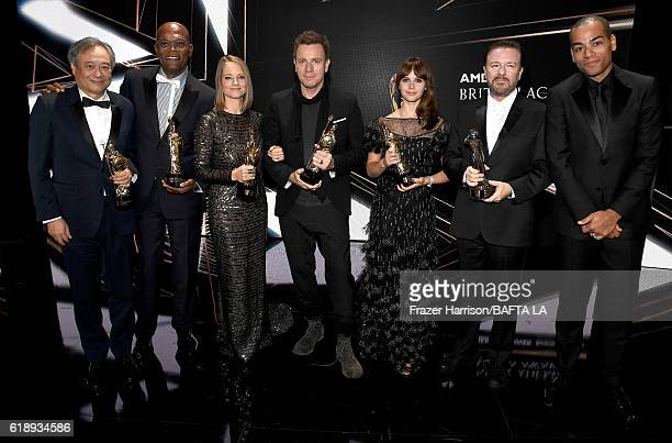 Honorees Ang Lee recipient of the John Schlesinger Britannia Award for Excellence in Directing Samuel L Jackson recipient of the Albert R Broccoli...