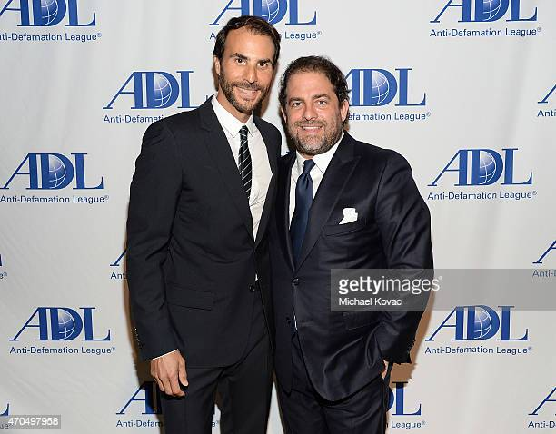 Honorees Ben Silverman and Brett Ratner attend the AntiDefamation League's 2015 Entertainment Industry Dinner at The Beverly Hilton Hotel on April 20...