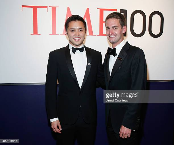 Honorees Bobby Murphy and Evan Spiegel attend the TIME 100 Gala TIME's 100 most influential people in the world at Jazz at Lincoln Center on April 29...