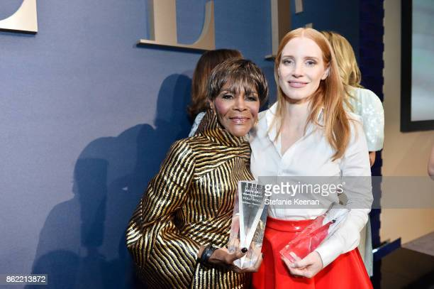 Honorees Cicely Tyson and Jessica Chastain attend ELLE's 24th Annual Women in Hollywood Celebration presented by L'Oreal Paris Real Is Rare Real Is A...