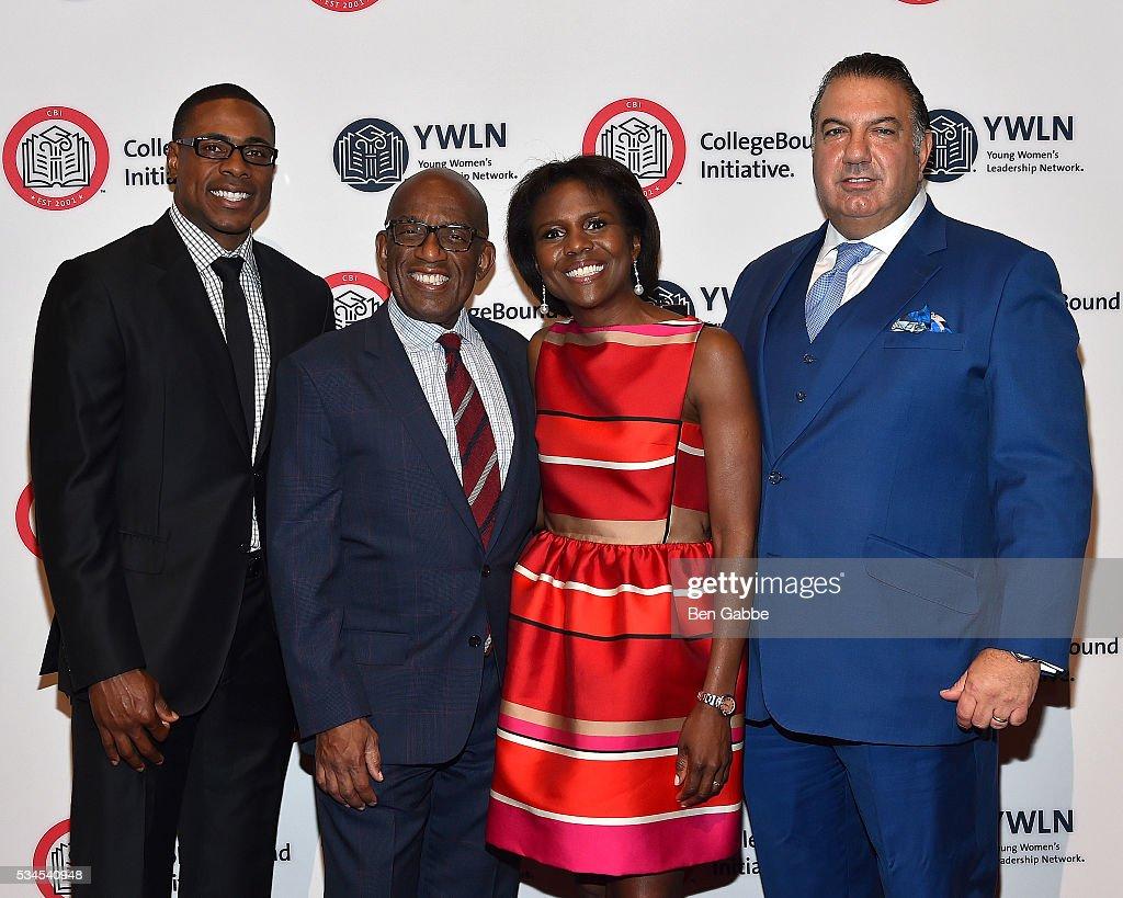 Honorees Curtis Granderson Al Roker Deborah Roberts and John Koudounis attend the 2016 CollegeBound Initiative Celebration at Jazz at Lincoln Center...