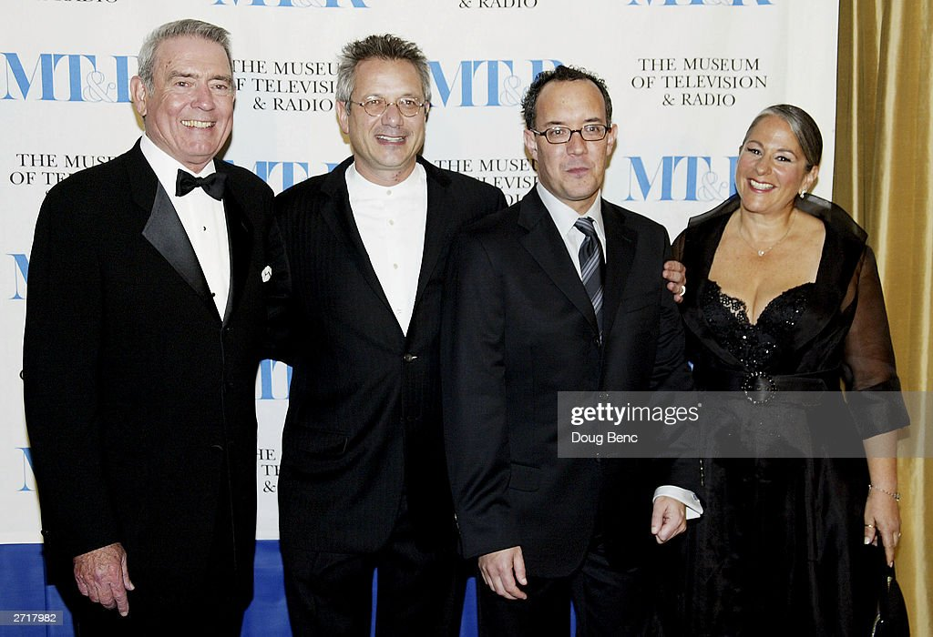 Honorees (L to R) Dan Rather, producers Kevin S. Bright, David Crane and Marta Kauffman pose before the Museum of Television & Radio's Annual Los Angeles Gala on November 10, 2003 at the Beverly Hills Hotel in Beverly Hills, California.