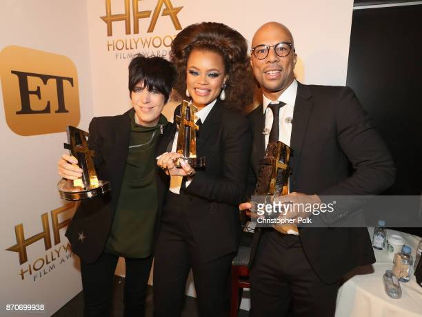 Honorees Diane Warren Andra Day and Common recipients of the Hollywood Song Award for 'Stand Up for Something' from the 'Marshall' soundtrack attend...