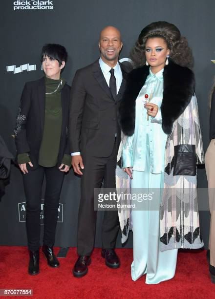 Honorees Diane Warren Common and Andra Day attend the 21st Annual Hollywood Film Awards at The Beverly Hilton Hotel on November 5 2017 in Beverly...