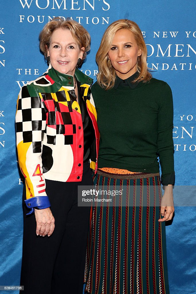 Honorees Elizabeth Sackler and Tory Burch attend The New York Women's Foundation's 2016 celebration womens breakfast on May 5, 2016 in New York City.