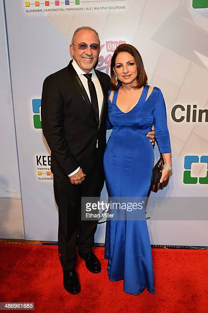 Honorees Emilio Estefan Jr and Gloria Estefan attend the 18th annual Keep Memory Alive 'Power of Love Gala' benefit for the Cleveland Clinic Lou Ruvo...