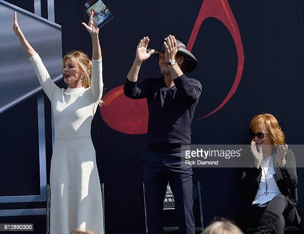 Honorees Faith Hill And Tim McGraw during the Nashville Music City Walk Of Fame Induction Ceremony at Nashville Music City Walk of Fame on October 5...