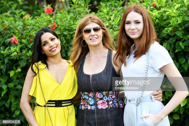 Honorees Freida Pinto Connie Britton and Karen Gillan attend 'Taste of Summer' during day one of the 2017 Maui Film Festival At Wailea on June 21...